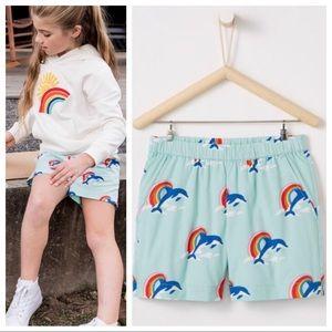 Hanna Andersson Dolphin Rainbow Shorts 110 | 4 US